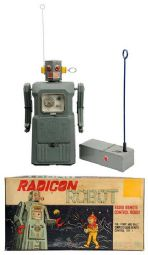 radicon robot, masudaya, japan, japanese, battery operated toys, ebay vintage space toys for sale, space toy museum appraisals, vintage space toys for sale inquire,  space toys, vintage space toys, ebay space toys appraisals, tin toy robots, flying saucer, space ship, toy appraisals, nomura, alps, space patrol, vintage space toys auctions, ebay space toys for sale free appraisals, robby robot
