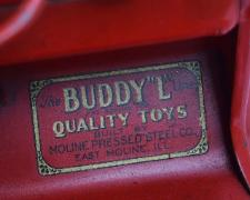 www.buddylmuseum.com, buying antique toy fire trucks, yellow red fire truck buddy l museum,  vintage space toys, american national toy trucks, sturditoy fire trucks. rare buddy l fire truck for sale,  Contact us with your buddy l and steelcraft fire truck for sale