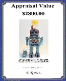 Free Vintage Space Toys Price Guide, linemar tin robots, Gang of Five Robot,  Space Toys Identification Guide,Tin Toy Robot Identification Guide,  Rockets Robots Space Ships, japanese japan alps rocketman rocket man space armor battery operated robot www.buddylmuseum.com  buying rare spae toys alps linemar japan facebook vintage space toys robots space ships rocket ship vintage antique toy appraisals tin toys buying german wind up battery operated toys