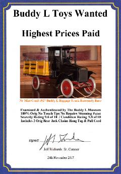 Buddy L Trucks Identification Guide, Buddy L Toys Price Guide, Antique Buddy L Trucks For Sale, Free Antique Toy Appraisals, Buddy L Fire Truck, Buddy L Dump Trucks, Buddy L Coal Truck, Buddy L Toys Ebay, Buddy L Trucks ebay
