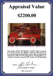 Buddy L Cars For Sale ~ Free Antqiue Toy Consignments ~ Buddy L Fire Truck ~ Buddy L Juniior Oil Tanker
