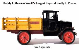 Buddy L Toy Appraisal Service offering free toy appraisals more than five decades. Buying toy collections, Free online toy appraisals