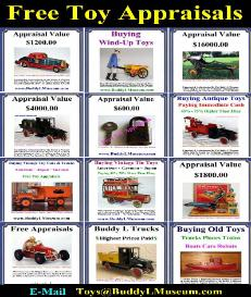 pressed steel toys home page Buddy L Museum www.buddylmuseum free pressed steel toy appraisals buying toy collections buddy l trucks for sale